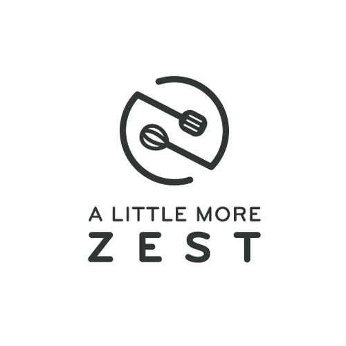Kitchen design with the title 'A little more zest logo'
