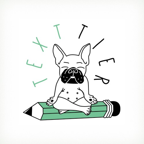 Bulldog logo with the title 'Logo TEXTIER'