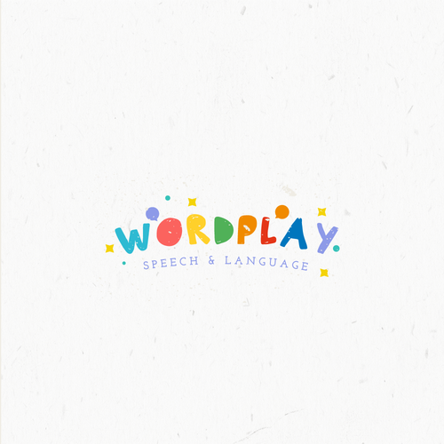 Colorful brand with the title 'Logo proposal for Speech Therapists'