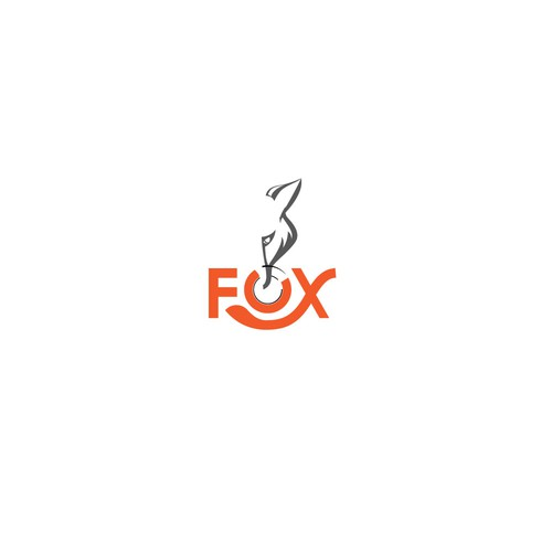 Backpacker logo with the title 'Bold logo concept for 3-FOX Restaurant '