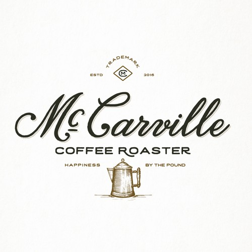 Rustic logo with the title 'McCarville Coffee Roaster'