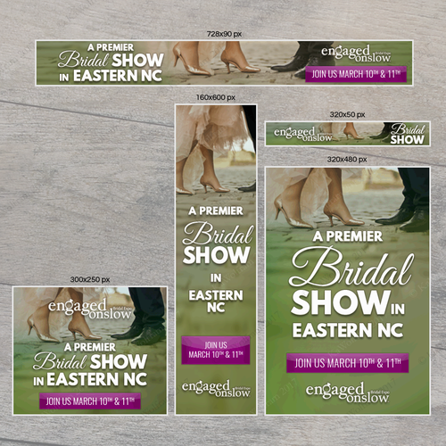 Bridal design with the title 'Banner ad design'