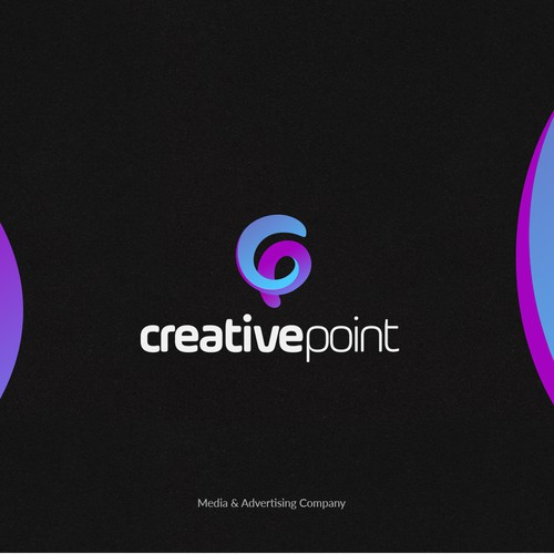 Pointer design with the title 'Logotype for Media & Advertising Company.'