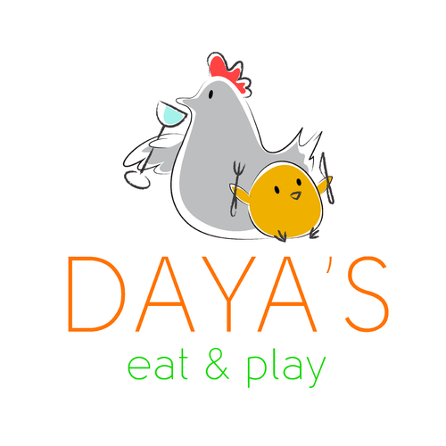 Chicken brand with the title 'A simple logo for a restaurant'