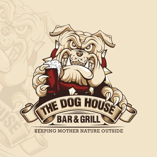 Bear claw logo with the title 'Drunken Bull DOG'