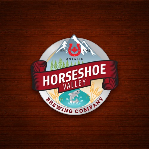 Horseshoe design with the title 'Craft Beer Logo'