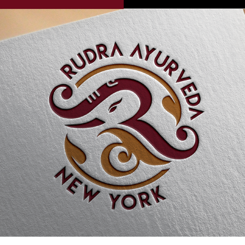 Ayurveda logo with the title 'rudra Ayurveda'