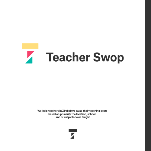Sketch brand with the title 'Logo work for Teacher swop'