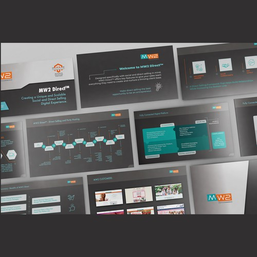 Keynote design with the title 'PowerPoint Template'