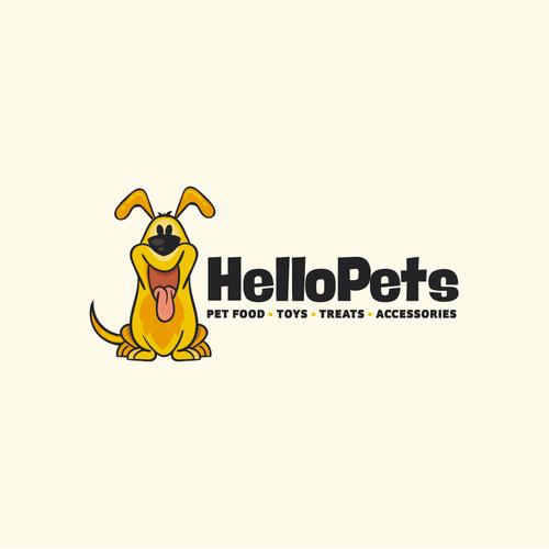 Pet shop design with the title 'Dog logo'