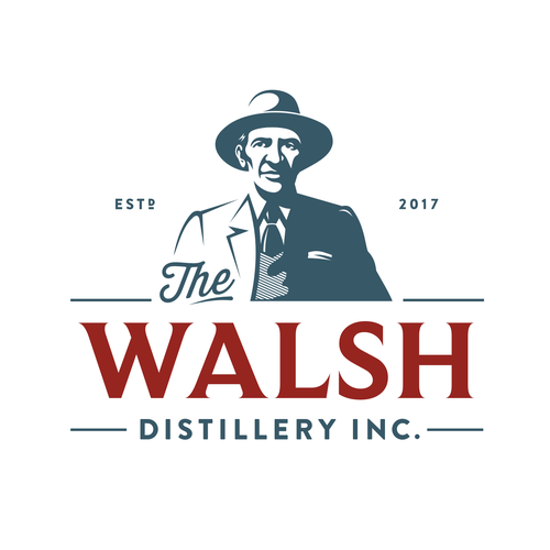 Bourbon logo with the title 'The Walsh Distillery Inc.'