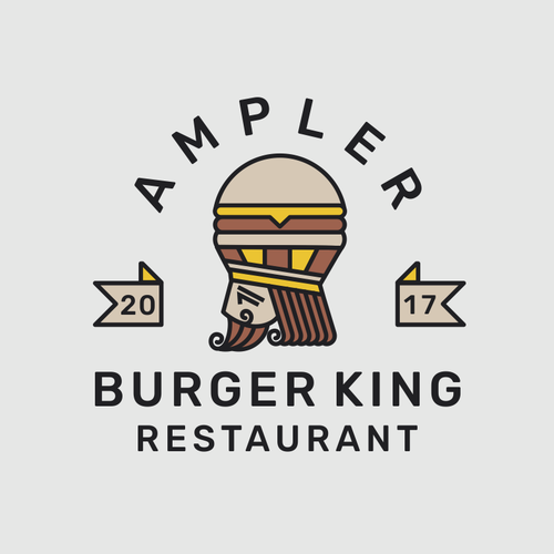 King design with the title 'Ampler Burger King'