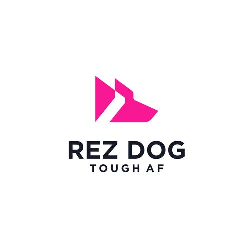 Sports apparel logo with the title 'Rez Dog sports apparel'