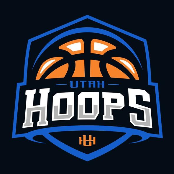 Utah logo with the title 'Utah Hoops'