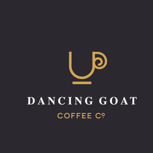 Goat logo with the title 'Dancing Goat Coffee Co. '