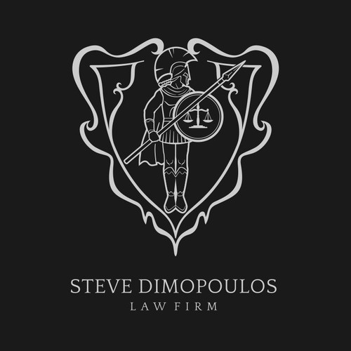 Scale design with the title 'Create an emblem for a high-end law firm'