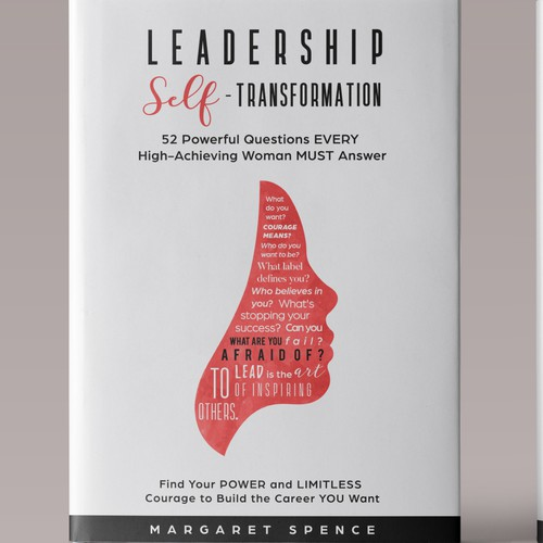 Feminine book cover with the title 'Elegant Book with a Journal for Women in Leadership'