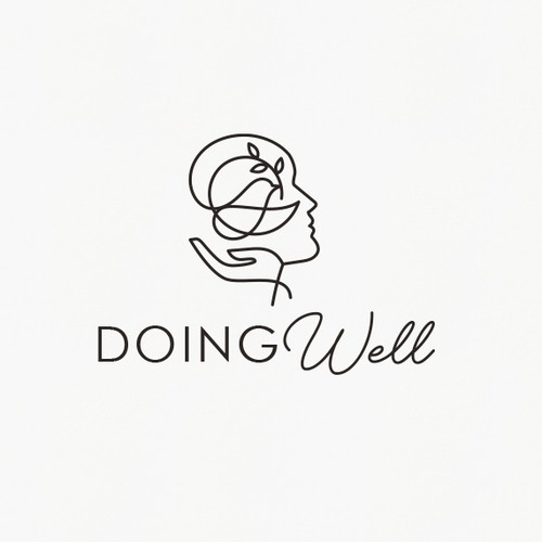 Psychology logo with the title 'Doing Well logo'