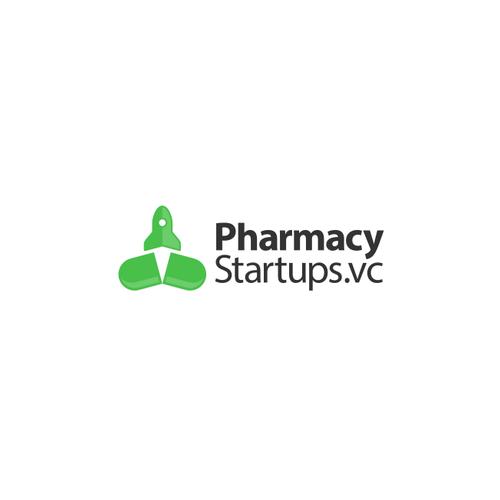 Pharmacy logo with the title 'PharmacyStartups'