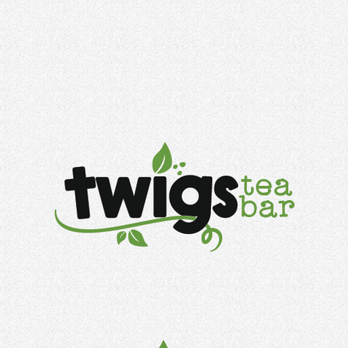Trendy design with the title 'twigs tea bar'
