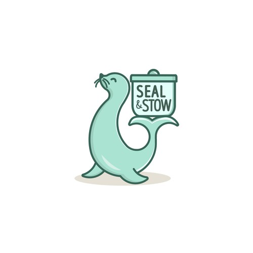 Seal logo with the title 'Kitchen Storage Logo Design '