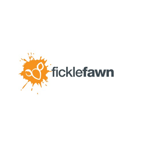 Splash logo with the title 'Logo Design for FickleFawn'