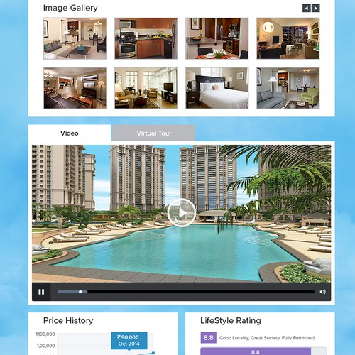 Cloud website with the title 'Property Feature Page for Housing.com'