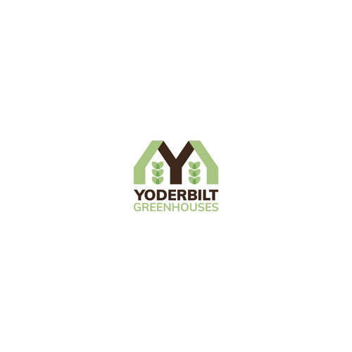 Greenhouse logo with the title 'Old school bold logo for greenhouse company'
