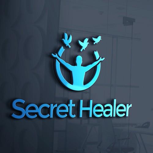 Healing logo with the title 'Logo for secret healer'