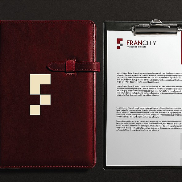 Startup brand with the title 'Francity'