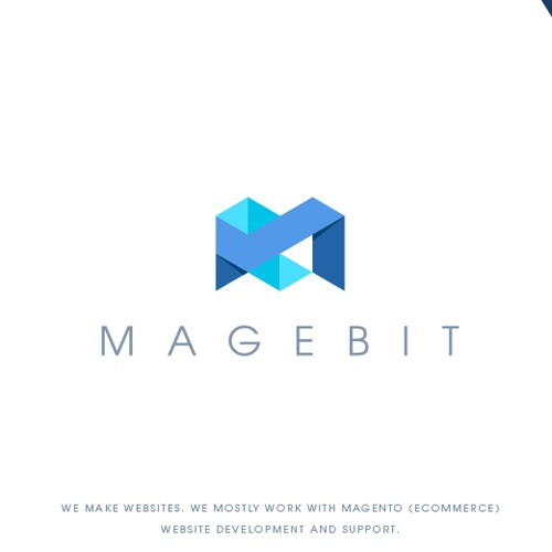 Consulting design with the title 'Magebit IT company'