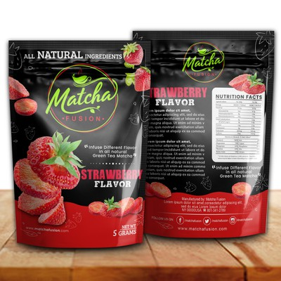Packaging design for Matcha Fusion