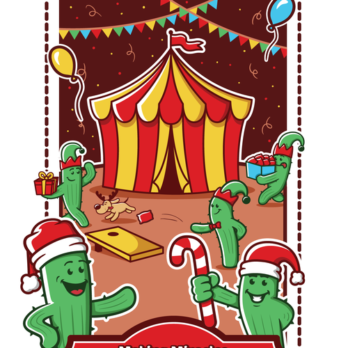 Playful artwork with the title 'Christmas flyer'