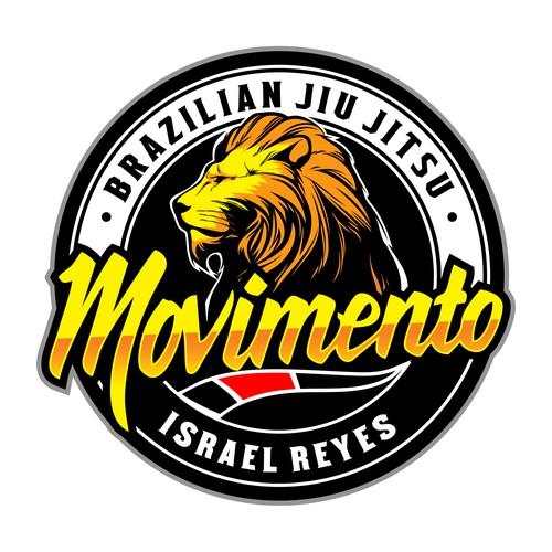 Jiu-jitsu design with the title 'Movimento '