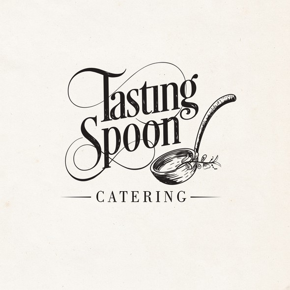 Catering brand with the title 'Tasting Spoon Catering'