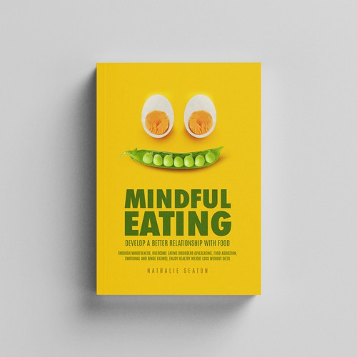 Food book cover with the title 'Mind ful Eating Book cover'