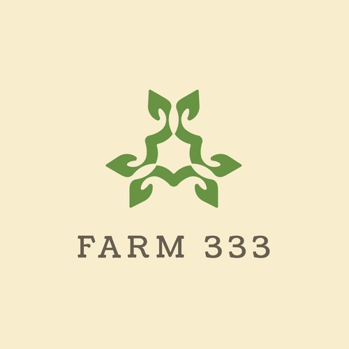 Number 3 logo with the title 'Powerful logo for Farm 333'