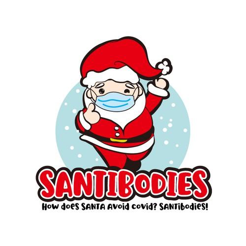 Santa design with the title 'santa logo'