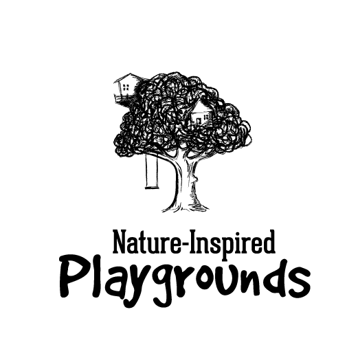 Playground design with the title 'Treehouse illustrative logo'