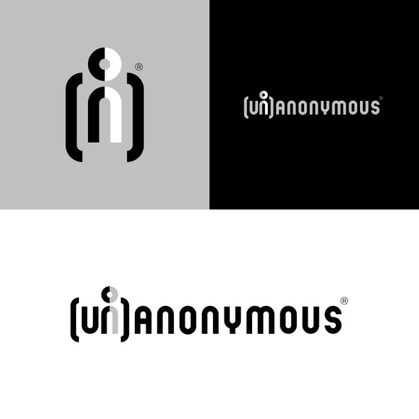Brackets design with the title '(Un)Anonymous'