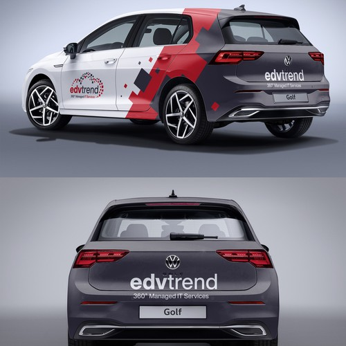 VW design with the title 'Edvtrend Car wrap'