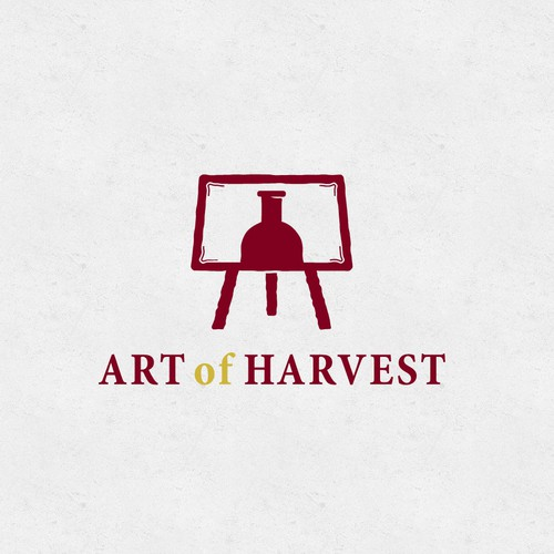 Painter logo with the title 'Wine Easel'