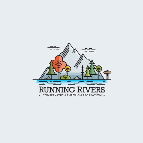 River design with the title 'Running Rivers'