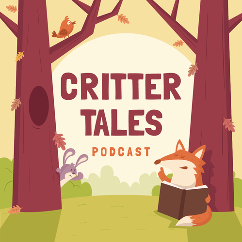 Podcast design with the title 'Critter  Tales podcast design'