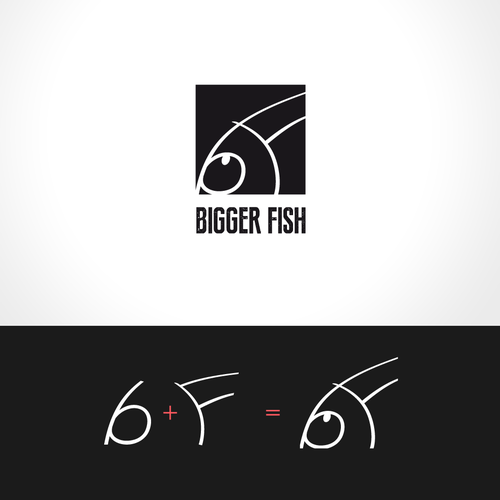Funny logo with the title 'Create a logo for Bigger Fish'