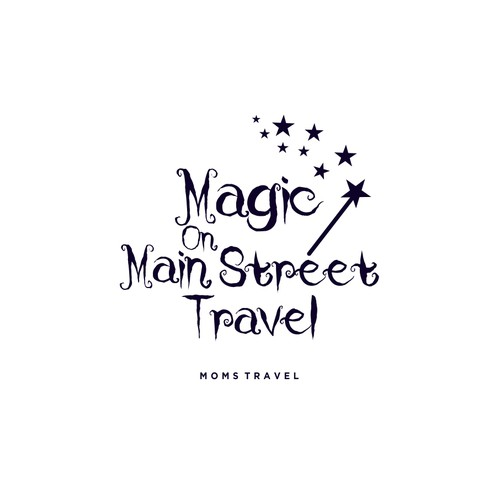 Magic brand with the title 'Logo for Magic on Main Street Travel'