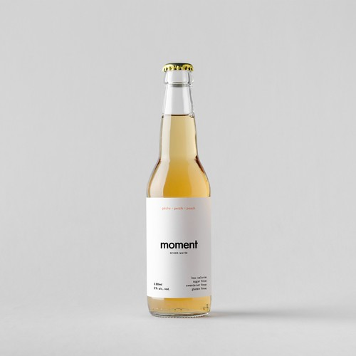 Drink label with the title 'Minimalist label design for an alcoholic drink'