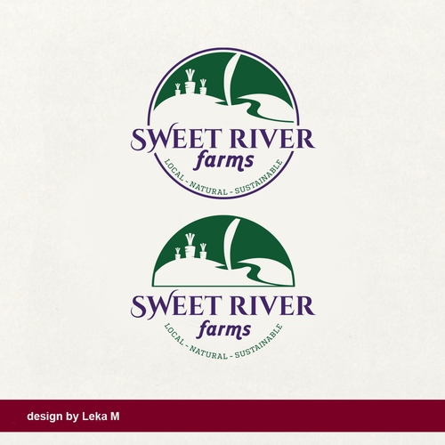 Fruit design with the title 'Sweet River Farms'