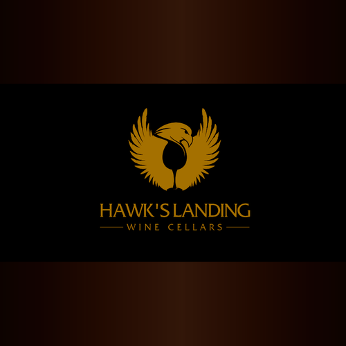 Falcon logo with the title 'Hawk's Landing '