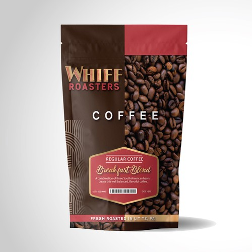 Roasted coffee packaging with the title 'Product Packaging Entry Freshly Roasted Coffee'